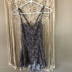 Free people button down cross back tank top sz S